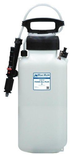 Blue Mule Pump-Up Foam-All Plus 3 Gallon by Blue Mule Professional Cleaning Systems. $79.20. High density 3 gallon polyethylene tank with UV inhibitor. Ideal for precision foam cleaning. Made in the USA. Viton seals (for maximum chemical resistance) and O-ring pressure relief valve. Includes: Webbed nylon carrying strap, 4ft discharge hose, trigger assembly. The Pump-Up Foam-All Plus 3 is a portable foam applicator for applying pre-diluted, foaming chemicals to any surface as r...