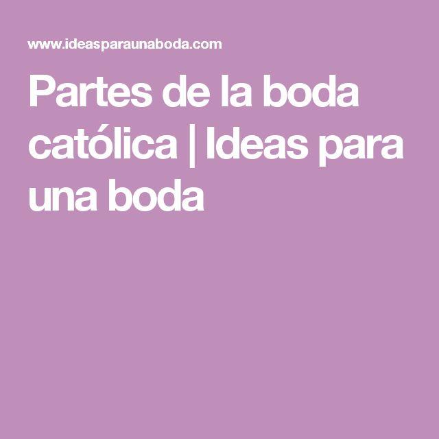 Partes de la boda católica   Ideas para una boda