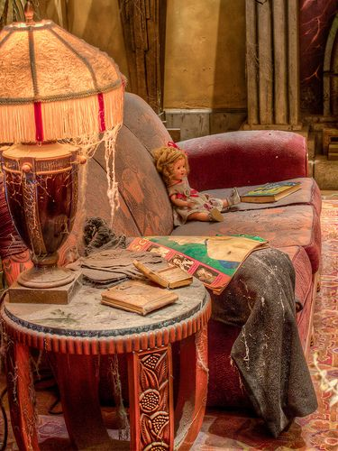 Image result for antiques in the lobby of the tower of terror