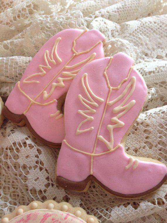 Vintage Cowgirl Cookie Favors - 1 Dozen