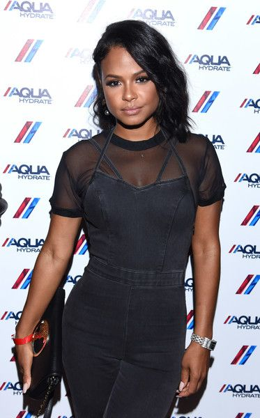 Actress and singer Christina Milian attends a private event at Hyde Staples Center hosted by AQUAhydrate for the Drake and Future concert.