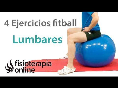 Ejercicios con Fitball o balón de pilates para trabajar trabajar la moviliad y flexibilidad lumbar. | Fisioterapia Online