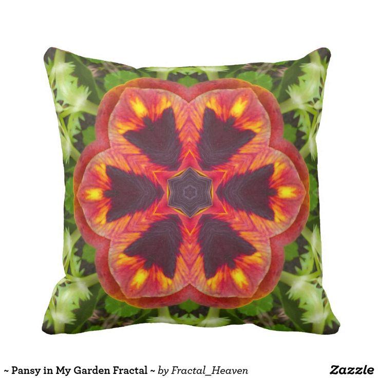 ~ Pansy in My Garden Fractal ~ Cushion