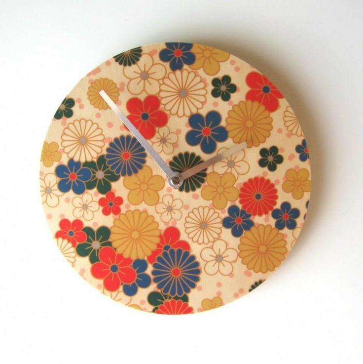Objectify Clock - Nippon Flowers | The Red Dog Gift Shop - Buy Online - NZ New Zealand - Motueka, Nelson