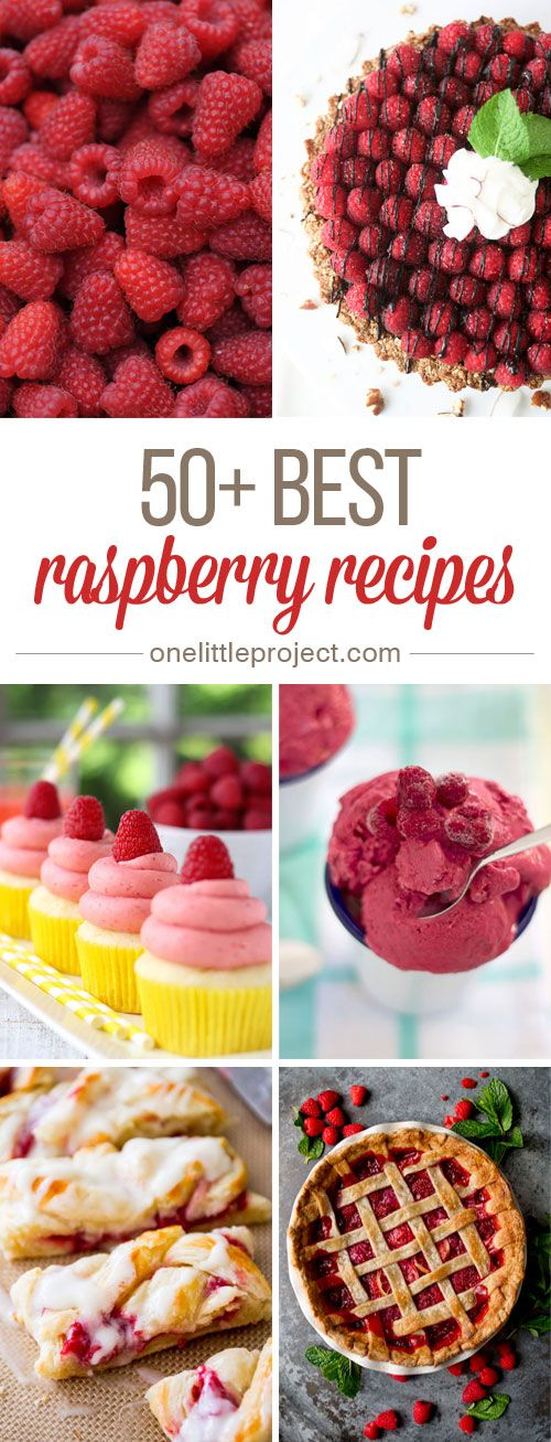 50+ Best Raspberry Recipes - These raspberry recipes are AMAZING!  Whatever you're craving, you will find some raspberry inspiration here!