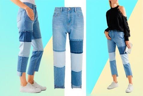 Модные женские джинсы 2017 – это точно джинсы пэчворк.