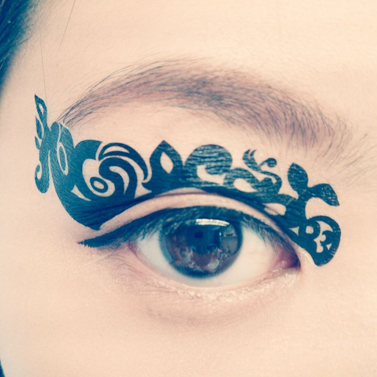Temporary Tattoo Transfer Makeup Eyeshadow Black Sea Medusa Lace Masquerade mask stocking stuffer color guard Christmas holiday cosplay by cclstore on Etsy https://www.etsy.com/uk/listing/127017586/temporary-tattoo-transfer-makeup