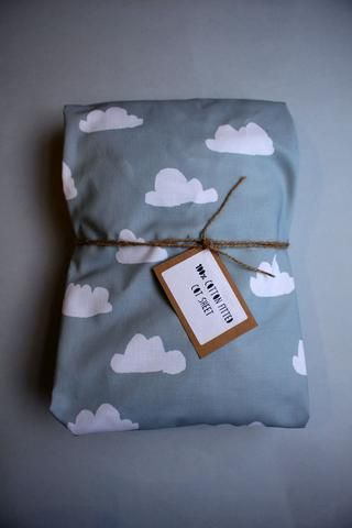 Fitted Cot Sheet - Grey Clouds - Little Dreamer Australia