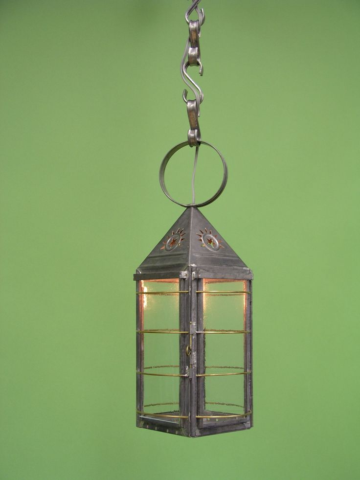 Buy St. Gaudens Primitive Classic Lantern by Authentic Designs - Made-to-Order designer Pendants from Dering Hall's collection of Rustic / Folk Traditional Lighting.