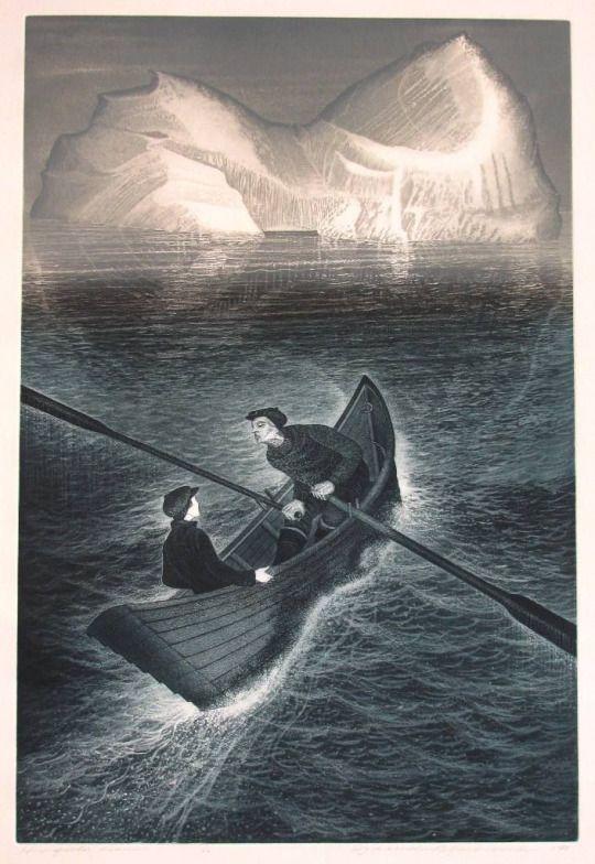 David Blackwood ~ His Father Dreams, 1985 (etching)