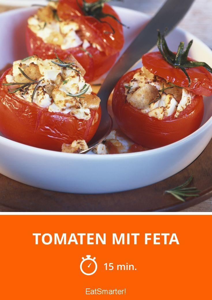 Gefüllte Tomaten – Leckere Beilage oder leichtes Abendessen. Fertig in 15 Minuten.