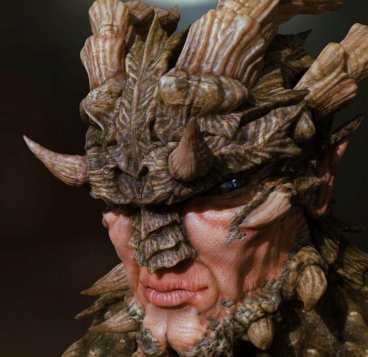Dragonman Tutorial, Model and Sculpt