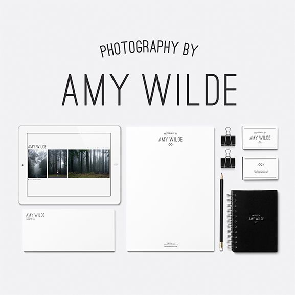 Branding, logo and identity creation by www.littlevoicescreative.com for www.amywildephoto.com
