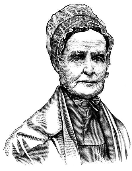 Lucretia Mott Portrait Image Cartoon Male Sketch