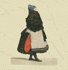 'The Amager costume, one of the richest costumes of Denmark, much different from the other local clothing.'