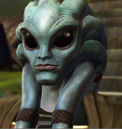 Bengel Morr - Nautolan Dark Jedi who was originally Orgus Din's Padawan. He was initially thought to have been killed during the Sacking of Coruscant, but instead was left insane. He later becomes the leader of the Flesh Raiders on Tython, and plans to rebuild the Jedi Order into a weapon to destroy the Sith. He serves as the main antagonist of the Hero of Tython's prologue in Star Wars: The Old Republic. He is later cured of his insanity.