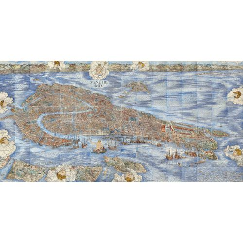 Mural Map in Talavera of the City of Venice, from an 1483 illustration