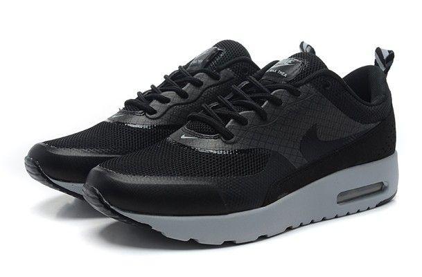 Vente en gros Nike Air Max Thea Chaussures Homme Noir Grise Outlet