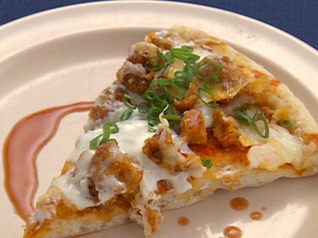 Buffalo Wing Pizza (Team Guy) recipe from Robert Irvine via Food Network