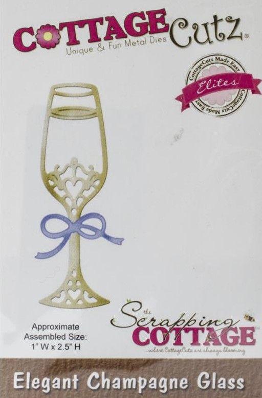 CCE-131  Cottage Cutz Die Elegant Champagne Glass