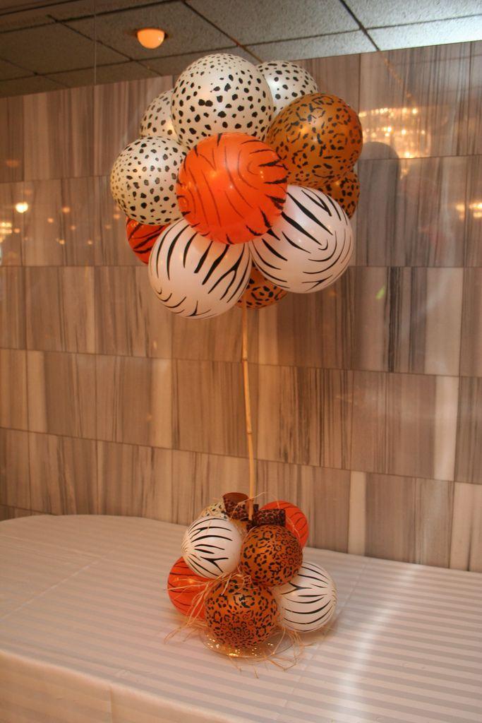 Safari Theme party centerpiece