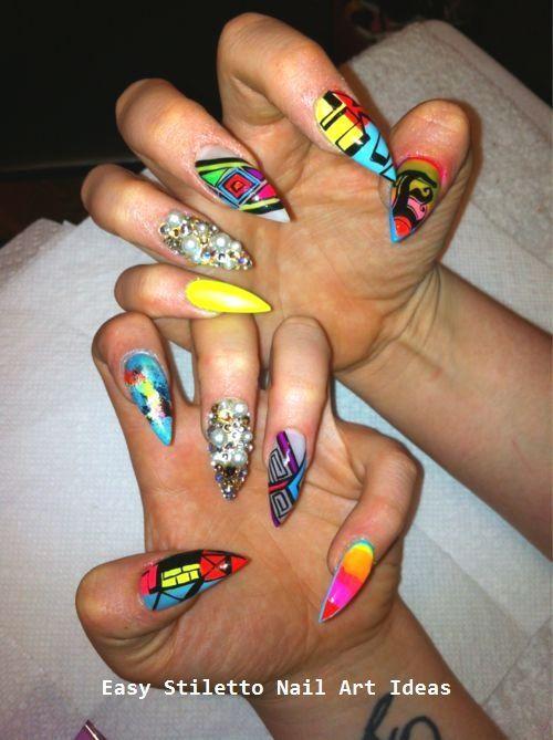 30 große Stiletto Nail Art Design Ideen Nail Art + # Art #classpintag #design #Description – Nagelkunst