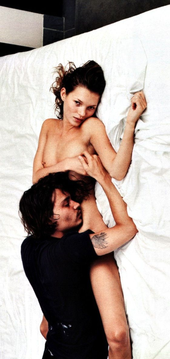 Kate Moss and Johnny Depp by Annie Leibovitz