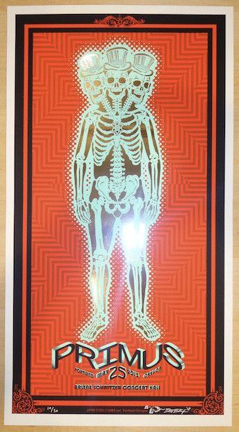2013 Primus - Portland Blue Edition Silkscreen Concert Poster by Emek