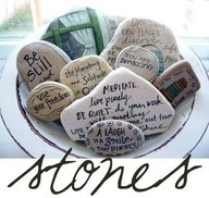 blessingway stones - this is one of my favorite activities we did for a good friend of mine!  We all had so muich fun drawing and coming up with creative things to say!  I remember when she was in labor we laid the stones out and she touched them and they gave her comfort and laughter.
