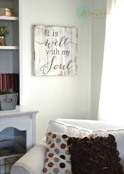 """It is well with my soul"" Square Wood Sign {customizable}"