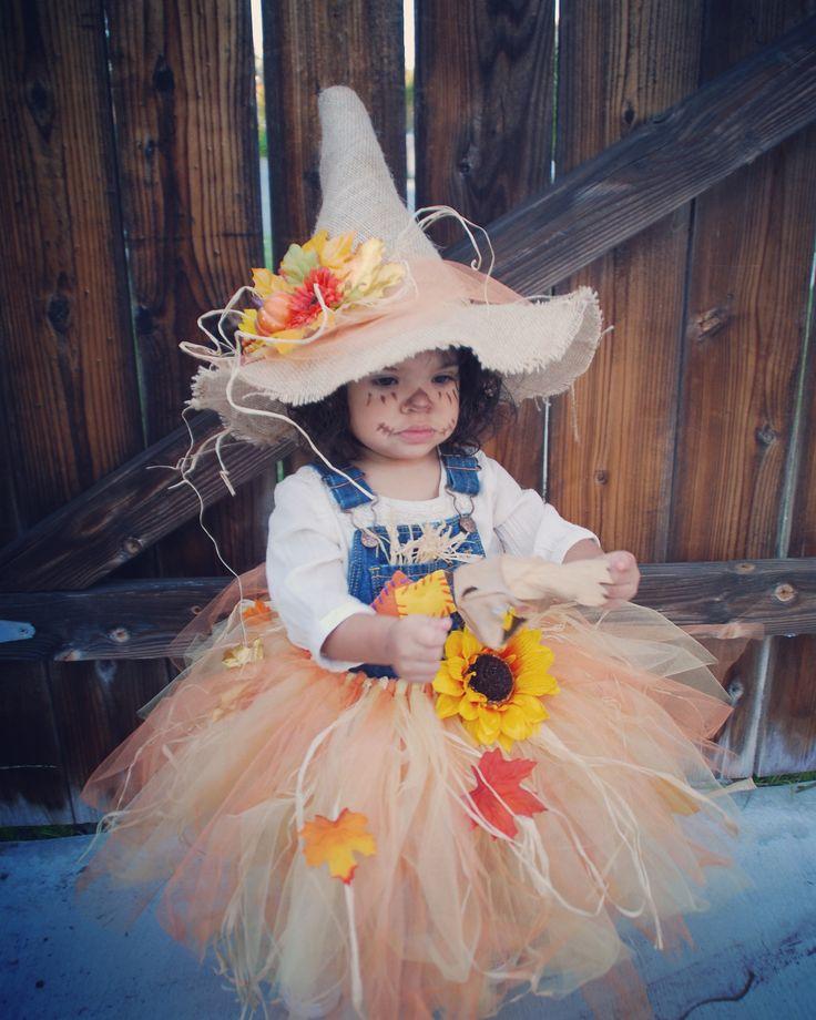 My little Scarecrow. Bella's Halloween Tutu Costume 2015