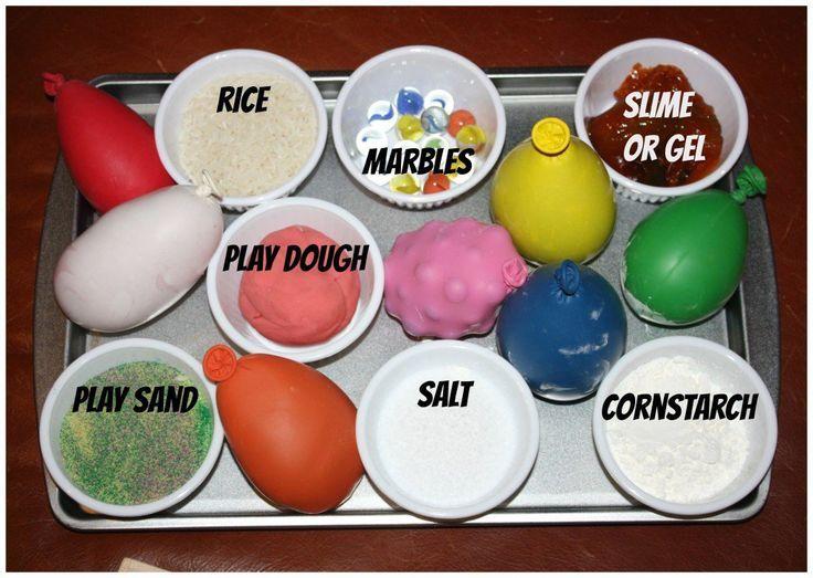 texture balloons matching tray