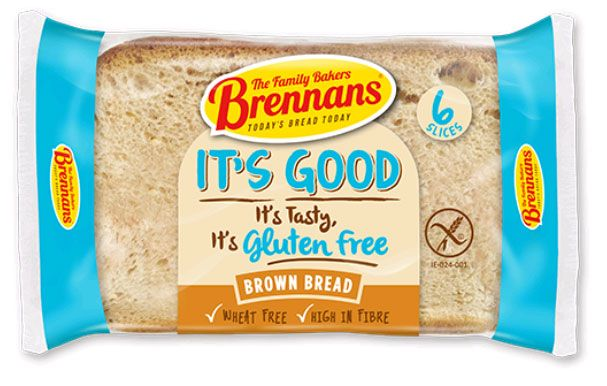 Brennans Gluten Free Bread - A gluten-free high-fibre brown loaf. So tasty, it's hard to believe it's wheat free. Now available in USA - $7.09