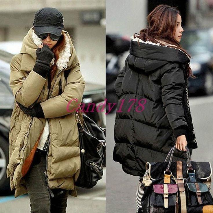 Women Winter Duck Down Jacket Thick Warm Military Overcoat Fur Hooded Parka Coat