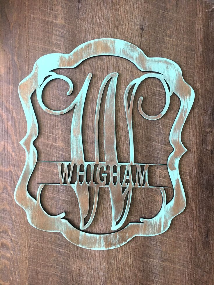 This Listing Is For 1 Custom Wooden Initial Last Name Pendant Cutout This Custom Wooden Initial Pendant C Initial Door Hanger Wooden Initials Door Hangers