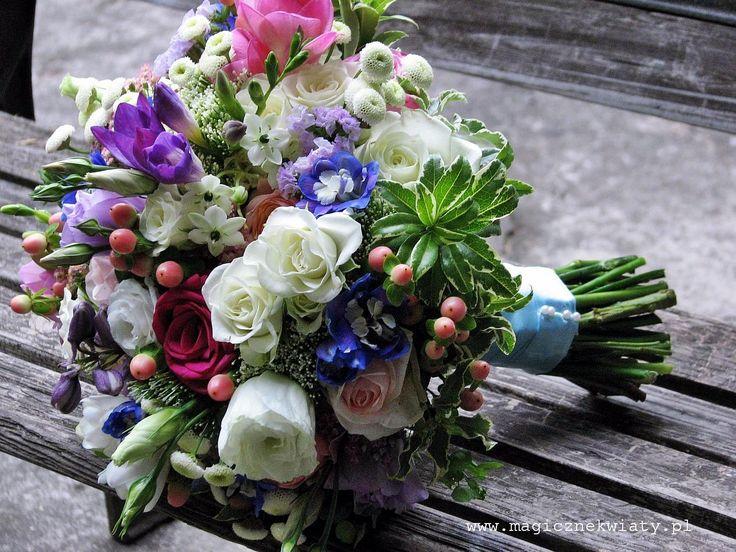 bukiet ślubny z kolorowych kwiatów - Szukaj w Google