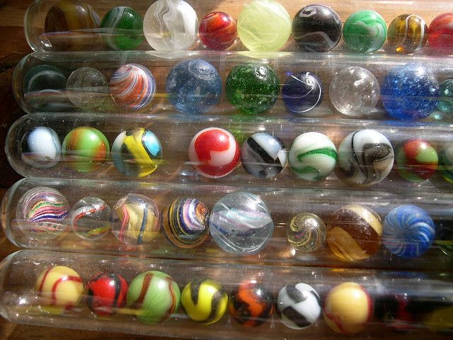 Great idea for display! / Vintage Rare Marbles | Antique Marbles in Cigar Tubes