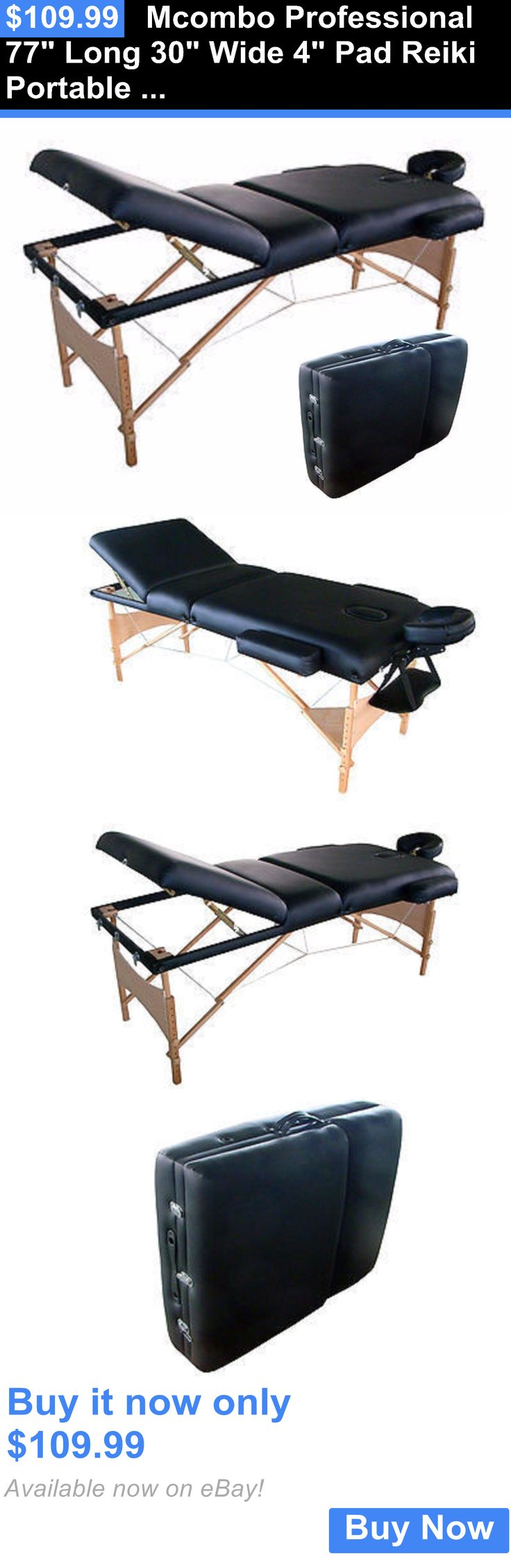 Massagers: Mcombo Professional 77 Long 30 Wide 4 Pad Reiki Portable Massage Table Sl34bk BUY IT NOW ONLY: $109.99