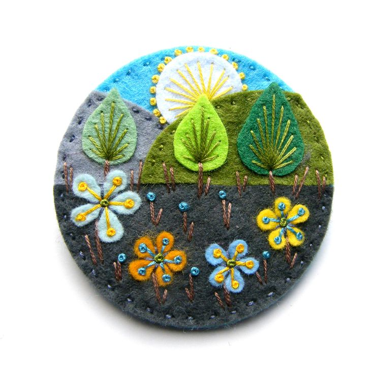 Felt embroidery. Nice embellishment for iPhone case or Kleenex cover