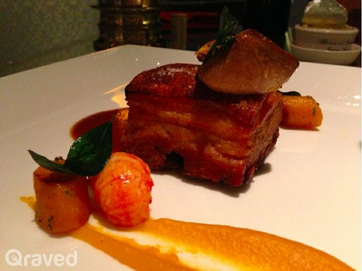 Pan Roasted Spanish Iberico Pork Belly at Chateau Blanc