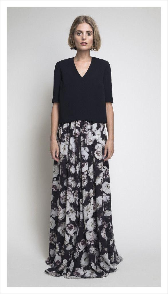 flr length dior skirt (bed of roses)