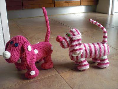 Breimaan: Roze hondjes