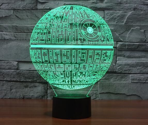 14.85$  Watch here - http://ali754.shopchina.info/go.php?t=32764168863 - Star Wars Death Star 3D Deco Light Lamp Shade Darth maul R2D2 BB8 Rogue One Star Wars 7 Colors Changing For Christmas Gifts Toys 14.85$ #magazine