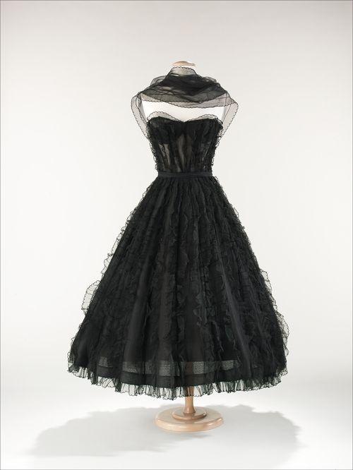 Coco Chanel dress ca. 1957 via The Costume Institute of the...