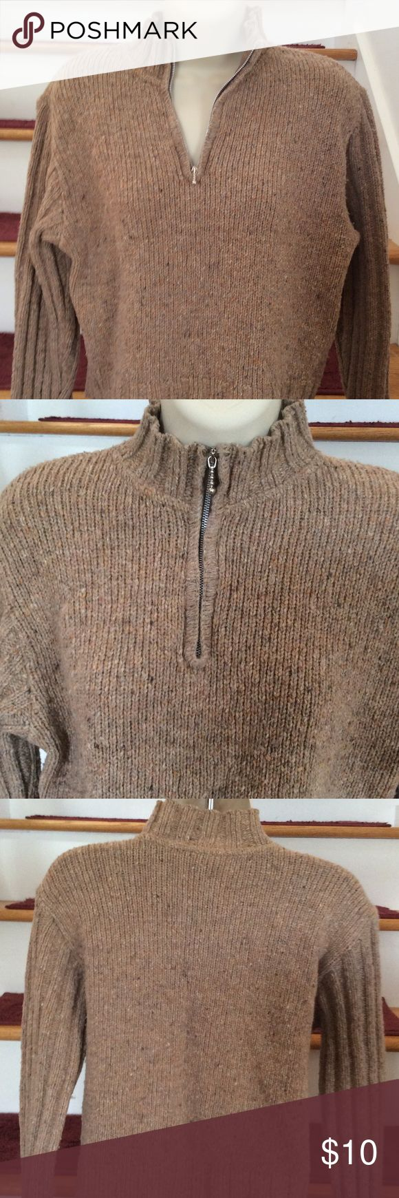 💕Cute and Warm Comfy Women's sweater, Size S Super cute preloved sweater with zip at neck. 80% Wool/20% Acrylic with natural variations in thread color/texture. Well made sweater in Italy that still has life to give, Size S Wit Boy Italy Sweaters