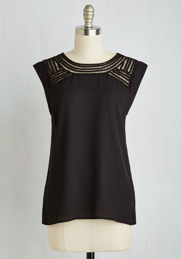 Creative Mixer Top. Mingle with other inspiring minds looking innovative in this black top! #black #modcloth