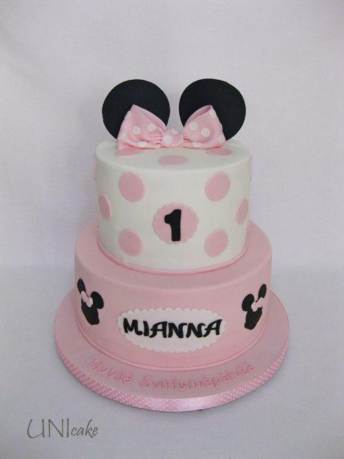 C159.  Minni Hiiri -kakku.  Minnie Mouse cake.