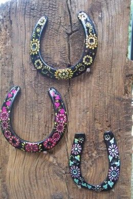 Upcycled Painting - Old Horseshoes & Brushes
