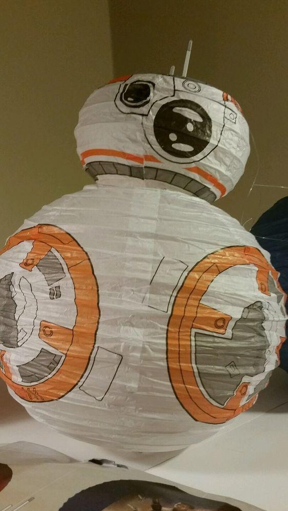 New Star Wars Bb 8 Droid Paper Lantern Set Force Awakens