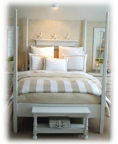 Beachy Bedroom.. Cute For A Guest Room Love The Colors
